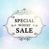 Winter special sale retro poster Stock Image