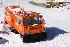 Winter special transportation vehicle Stock Photo