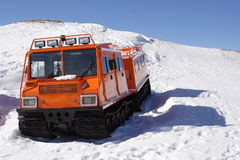 Winter special transportation vehicle Royalty Free Stock Image