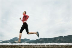 Winter speed runner Royalty Free Stock Photography