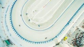 Winter speedway on the ice Stock Photos
