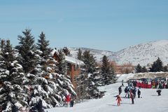 Winter-Spielplatz Lizenzfreies Stockfoto