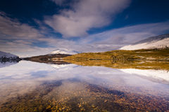 Winter splendour. Loch Ave on the west coast of Scotland after a heavry snowfall Royalty Free Stock Photos