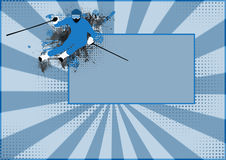 Winter sport background Stock Images