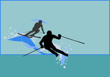 Winter sport background Stock Image
