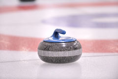 Winter Sport-Curling, the granite Rock. A 40 pound granite stone, known as the 'Rock' in the sport of Curling Stock Images