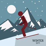 Winter Sport design. Winter concept with sport icons design, vector illustration 10 eps graphic Royalty Free Stock Photo