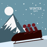 Winter Sport design. Winter concept with sport icons design, vector illustration 10 eps graphic Stock Image