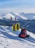 Winter sport equipment Stock Image