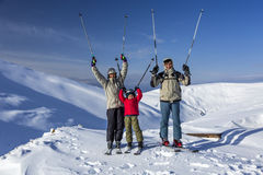 Winter sport family Royalty Free Stock Photography