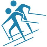 Winter sport - Cross-country skiing icon Royalty Free Stock Image