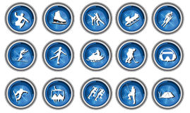 Winter sport icon set Royalty Free Stock Photo