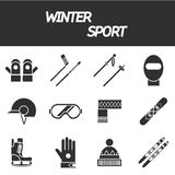 Winter sport icon set Stock Images
