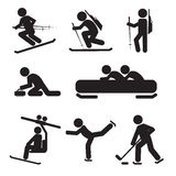 Winter Sport Icon Set Royalty Free Stock Photography