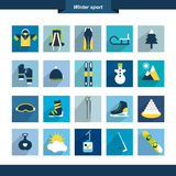 Winter sport icon shape. Stock Images