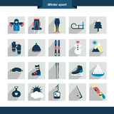 Winter sport icon. Vector illustration. Stock Photography