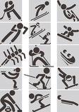 Winter sport icons Stock Images