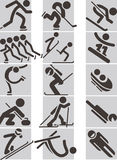 Winter sport icons Royalty Free Stock Photo