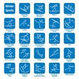 Winter Sport Icons Stock Photos