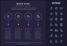 Winter sport infographic template, elements, icons Royalty Free Stock Photos