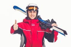 Winter sport, man Stock Photography