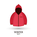 Winter sport pink jacket clothes Royalty Free Stock Photography