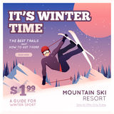 Winter Sport Poster Royalty Free Stock Image