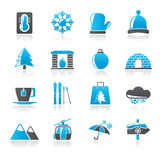 Winter, Sport and relax icons Royalty Free Stock Photo