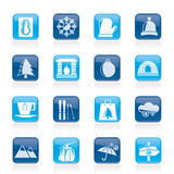 Winter, Sport and relax icons. Vector icon set, Created For Print, Mobile and Web  Applications Stock Photos
