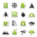 Winter, Sport and relax icons. Vector icon set, Created For Print, Mobile and Web  Applications Royalty Free Stock Photo
