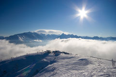 Winter Sport Scenery. In Tirol Alps Royalty Free Stock Photography