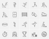 Winter sport sketch icon set. Royalty Free Stock Photo
