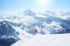 Winter sport ski holiday. In the Alps Stock Photo