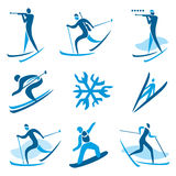 Winter sport symbols Royalty Free Stock Photography