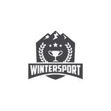 Winter Sport Template Royalty Free Stock Image