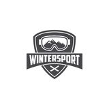 Winter Sport Template Royalty Free Stock Images