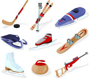Winter sport, tools Royalty Free Stock Images