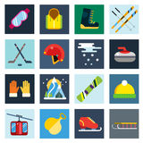 Winter sport vector icons set Royalty Free Stock Photo