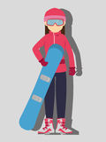 Winter sport and wear accesories Stock Photos
