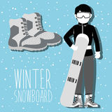 Winter sport and wear accesories Royalty Free Stock Image