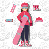 Winter sport and wear accesories Stock Images