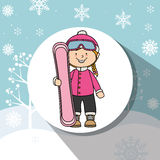 Winter sport and wear accesories Stock Photo