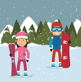 Winter sport wear and accesories Stock Photos