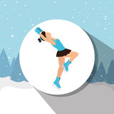 Winter sport wear and accesories Stock Images