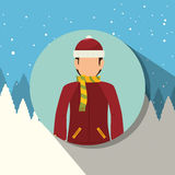 Winter sport wear and accessories  Royalty Free Stock Images