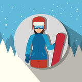 Winter sport wear and accessories  Royalty Free Stock Photography