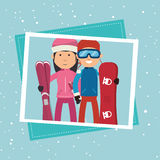 Winter sport wear and accessories Royalty Free Stock Image