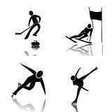 Winter Sports. Profiles of athletes of winter sports Royalty Free Illustration