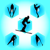 Winter sports. This is the winter sports illustration Stock Photography
