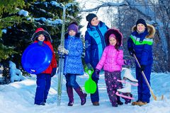 Winter sports and activities Royalty Free Stock Photography